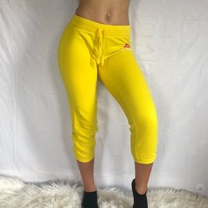 Yellow Victoria's Secret PINK capri sweats.